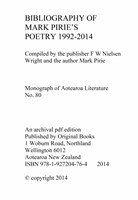 Mark Pirie Poem Bibliography